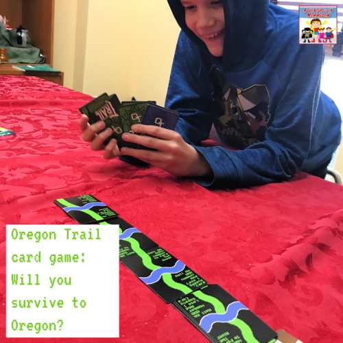 playing the Oregon Trail card game