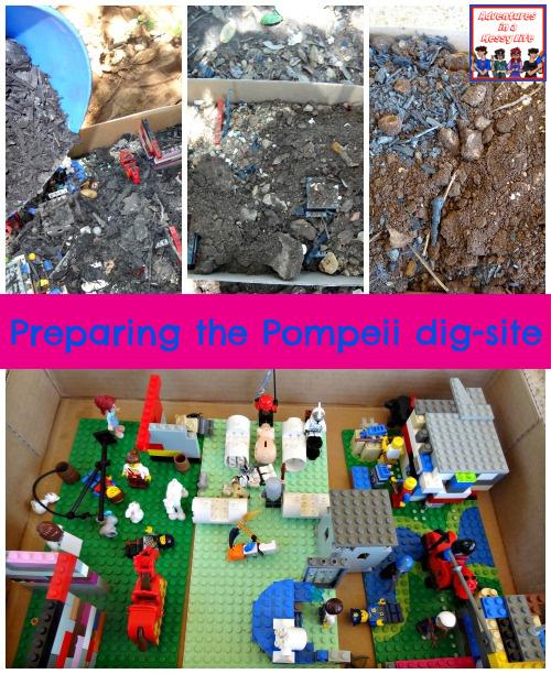 preparing the Pompeii dig site