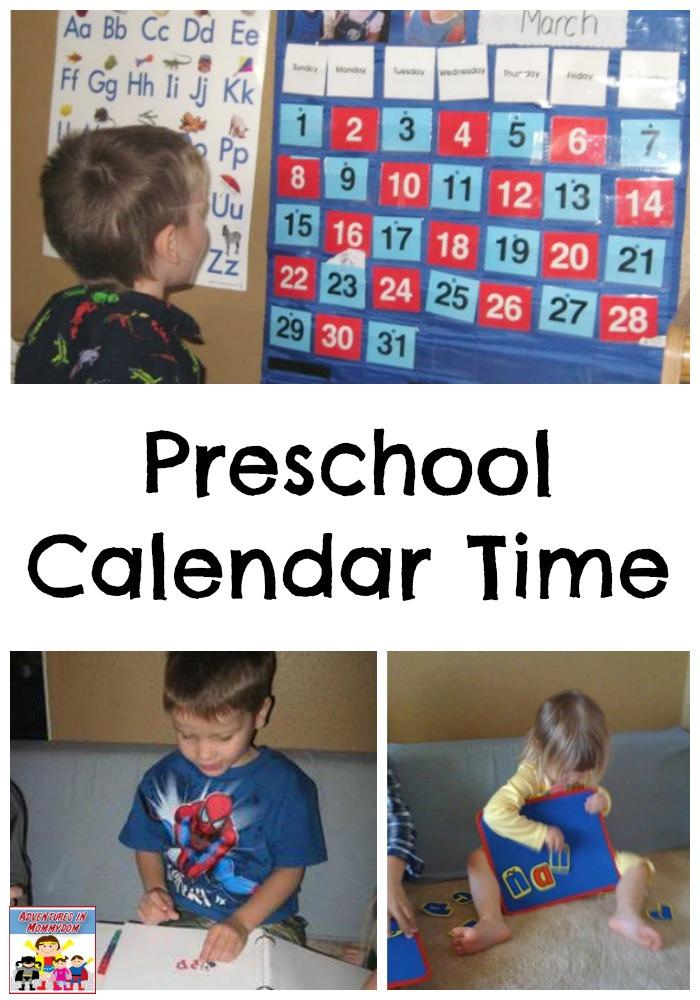 preschool calendar time