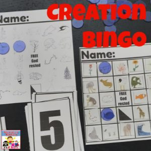 printable creation bingo game for sunday school