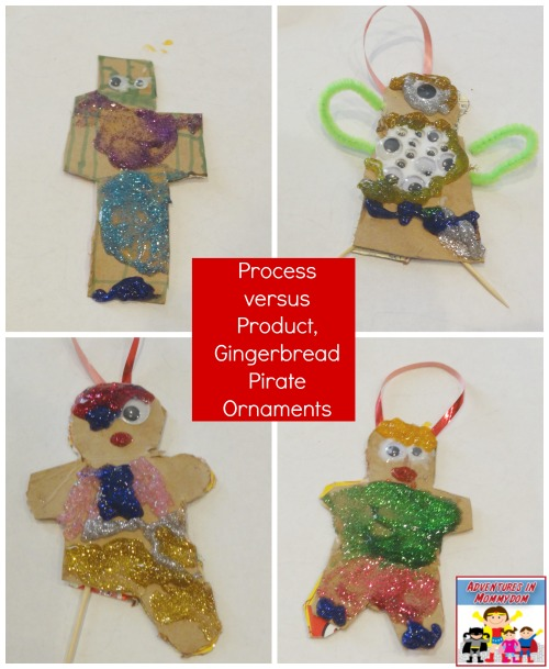 process versus product gingerbread pirate ornaments