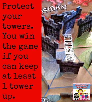 protect your towers to win Castle Panic