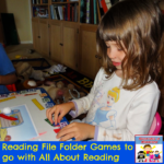 reading file folder games to go with All About Reading