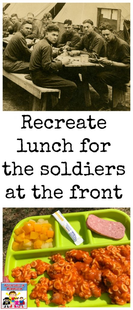 recreate lunch for the soldiers at the front