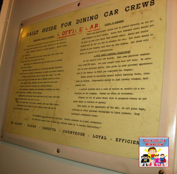 rules for staff on train car
