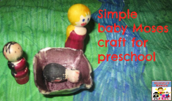 simple baby moses craft for preschool