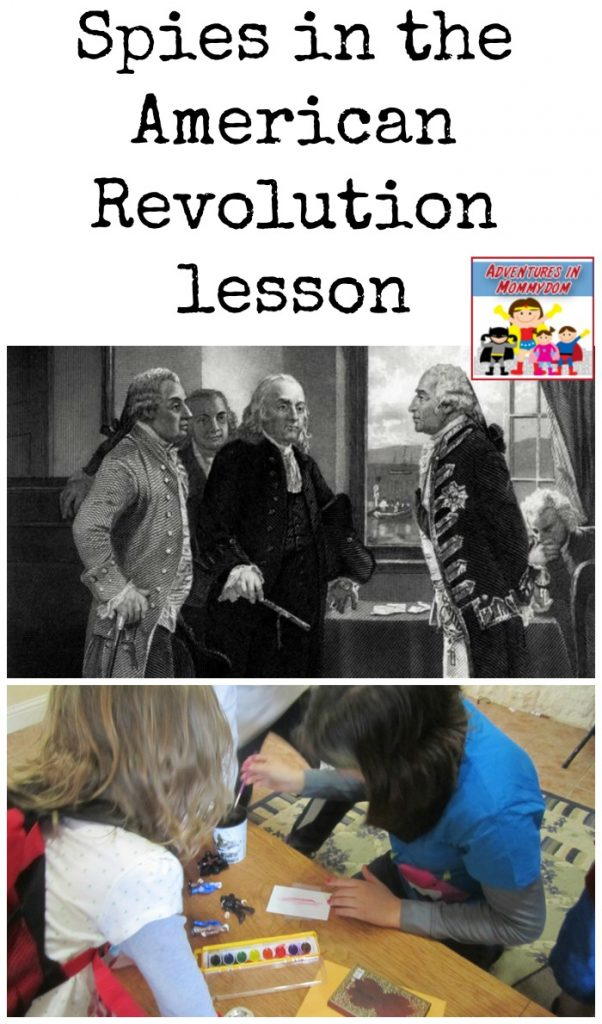 spies in the american revolution lesson for elementary