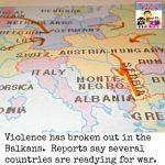 start of World War 1 news report