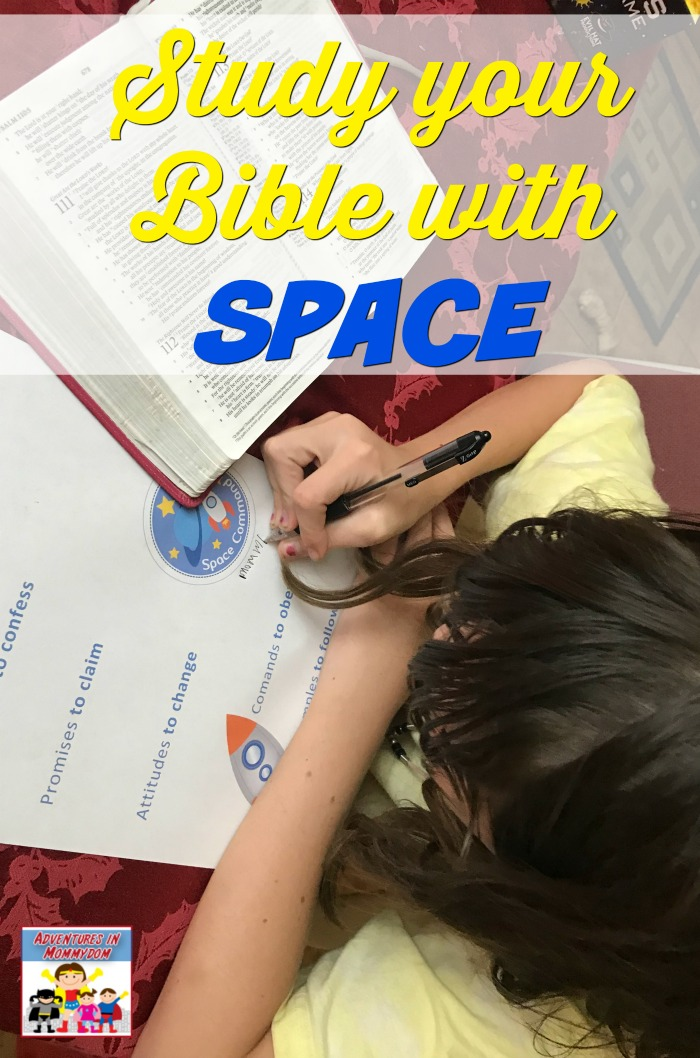 teach your kids how to study the Bible with SPACE