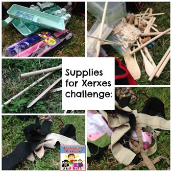 supplies for Xerxes challenge lesson