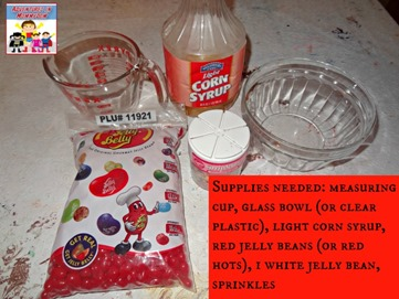 supplies needed for model of blood