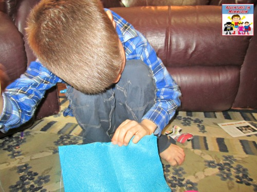 teach young kids to sew, make a haversack