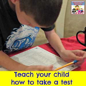 teach your child how to take a test