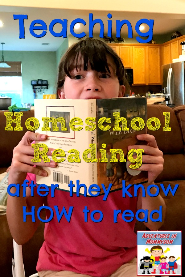 teaching homeschool reading after they know how to read