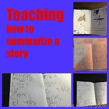 teaching how to summarize a story