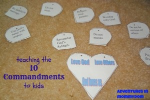 Moses: teaching the 10 Commandments to kids