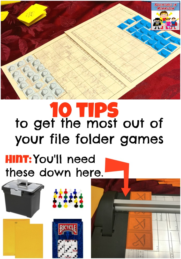 tips to get the most out of your file folder games