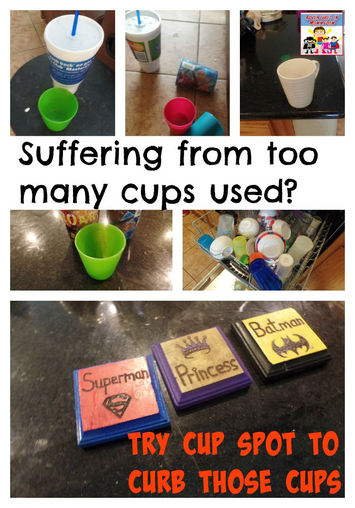 too many cups used each day?  Try cup spot to help keep your cups in place
