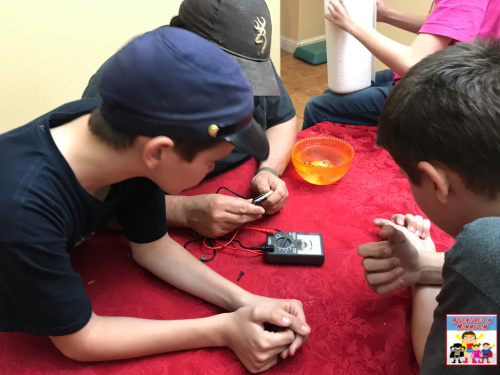 try making a battery using pennies