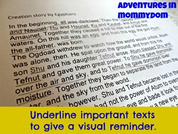 underline important information
