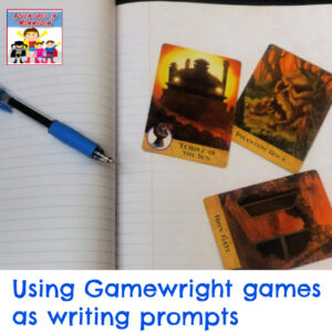 using gamewright games as writing prompts