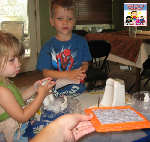 using the paper making screen learning how to make paper
