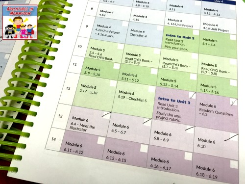 using the schedule for Readers in Residence