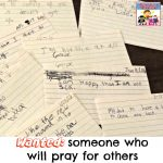 wanted someone who will pray for others