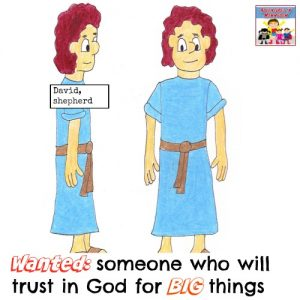 wanted someone who will trust God for Big things