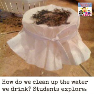 water filtration experiment for early learners