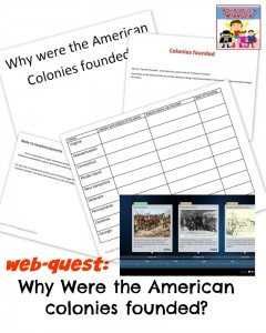 Why were the American Colonies founded? a web-quest for junior high