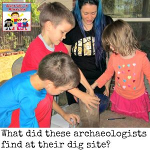Quick and easy archaeology dig to get your kids loving history