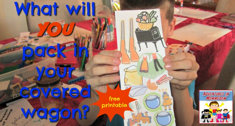 what will you pack in your covered wagon activity