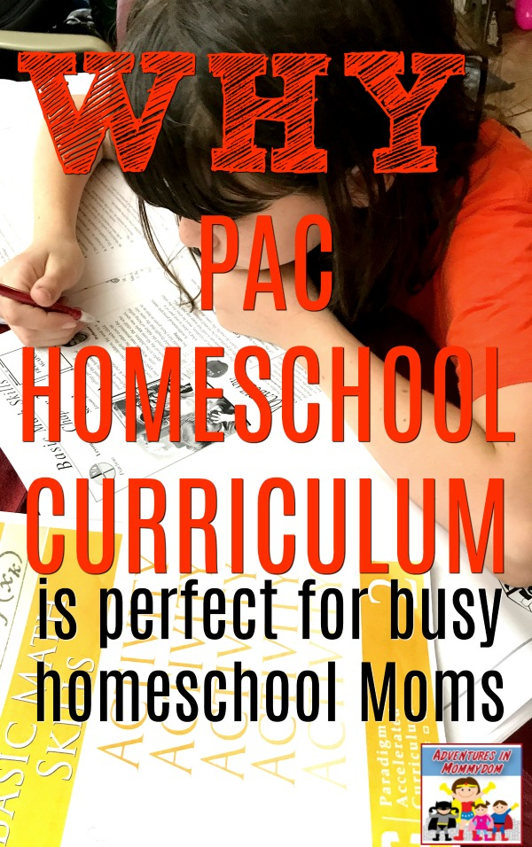 why PAC homeschool curriculum is perfect for busy Moms