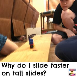 why do I slide faster on a tall slide potential energy experiment