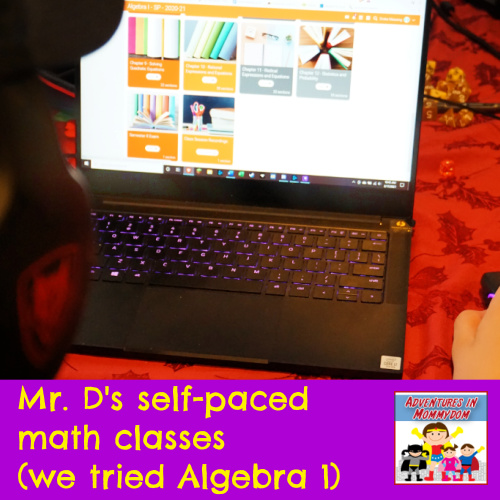 work at your own pace with Mr. D self-paced math review curriculum high 9th