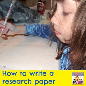write a research paper young kid