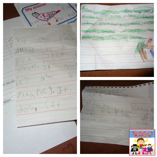 writing process for how to write an animal report