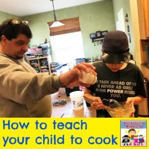 your child can cook meals